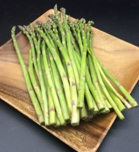 Fresh seasonal asparagus