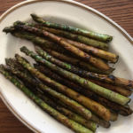Ember roasted fresh asparagus