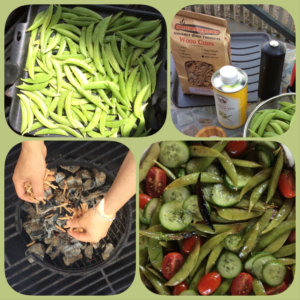 collage of the steps to our Smoking Snow Peas