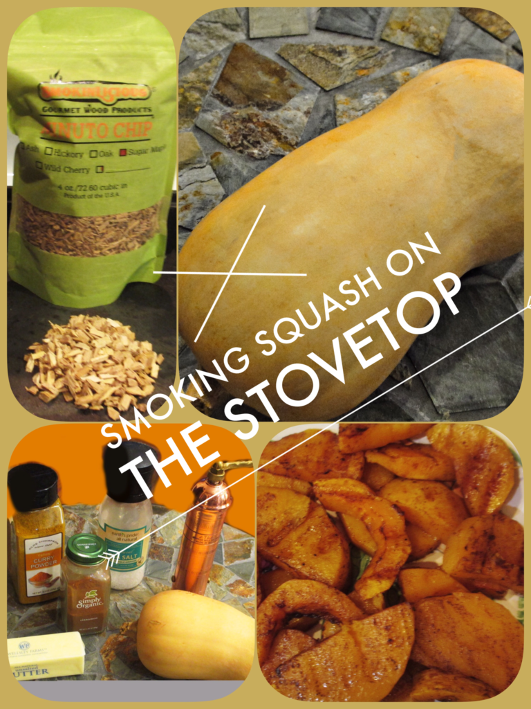 Collage of Smoked Butternut Squash recipe steps