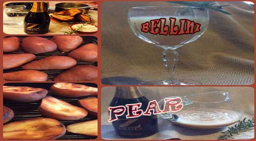 The Yummy Ingredients to Make a Perfect Smoked Pear Bellini Cocktail