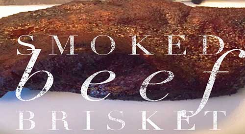 Smoking a Beef Brisket with red oak wood chunks!