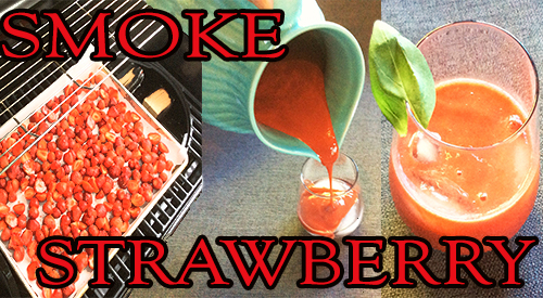 Strawberries Get Smoky for your summer cocktail is very easy. Merely cut your strawberries and place them on your grill to enhance their flavor than process into flavorful drink.