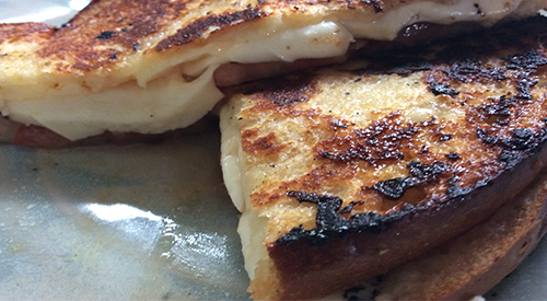 Smoked grilled cheese like no other you ever had
