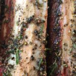 Our fresh herb wet rub applied to the beef short ribs