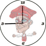 Our Dr Smoke clock indicates you should smoke for 45 minutes, then glaze.