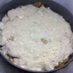 Our wood fired apples and dry ingredients mixed in the pan ready for baking