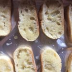 Crostini with garlic butter