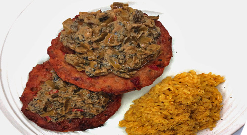 Try our Mushroom tapenade on the grill with Peppers