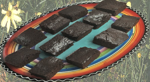 The classic Chocolate War Cake baked on the Grill- cut in pieces