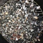 our cooking bed of coals