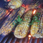 The how to instructions for cooking corn on a gas grill!