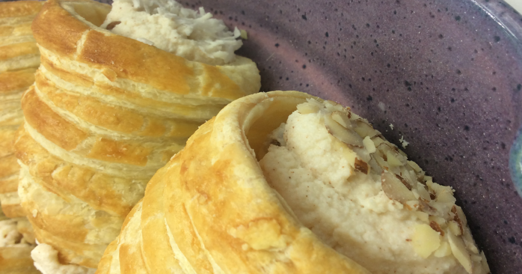Tastiness of smoked ricotta filled pastry horn