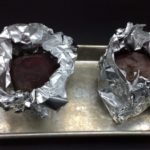 our beets have been washed and clean, wrapped in foil and ready for the grill