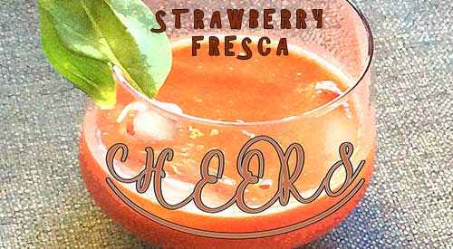 Fresca Cocktail with Strawberries is very easy. Merely cut your strawberries and place them on your grill to enhance their flavor than process into a flavorful drink.