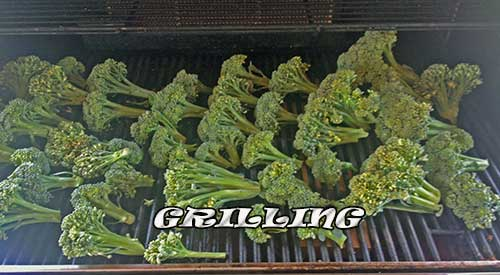 Getting ready for a Grill Roasted Broccoli extravaganza!