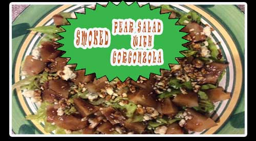Refreshing smoked pear salad with gorgonzola and our easy to follow recipe only requires six ingredients.