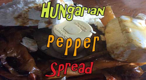 Our Homemade Hungarian Pepper Spreads with a Smokey flavor!