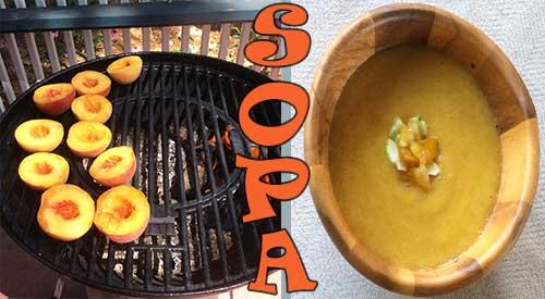 Los melocotones son el ingrediente principal en el gazpacho