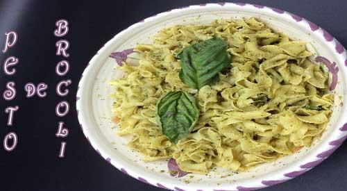 Este plato fácil de preparar con nuestra salsa Pesto de brócoli con sabor a madera